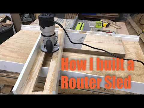 Easy DIY Router Sled