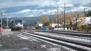 Amtrak California Zephyr arriving at Truckee California