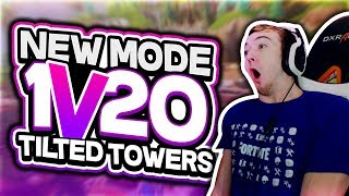 *NEW FORTNITE TEAMS OF 20* (NO FILL 1V20 TILTED TOWERS GAMEPLAY)