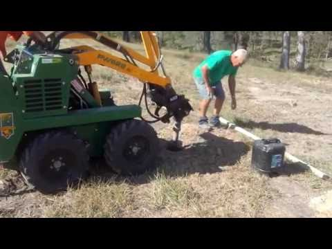 Griffo's Dingo Hire. Dig 180 Post Holes for new Fence at Samford. 0405 967 394