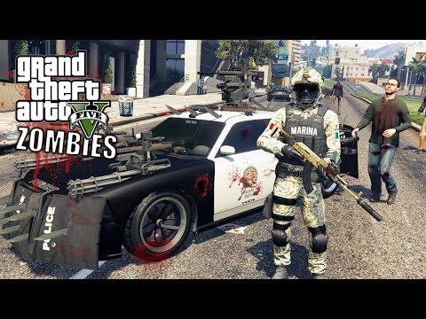 GTA 5 APOCALIPSIS ZOMBIE VS MARINA ARMADA DE MÉXICO-EP#6| GTA V MODS PC|EdgarFtw