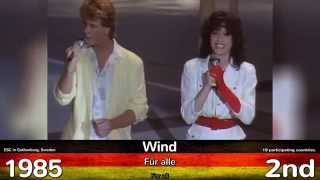 Germany in Eurovision | ALL Songs 2015 - 1956 | ALLE deutsch...
