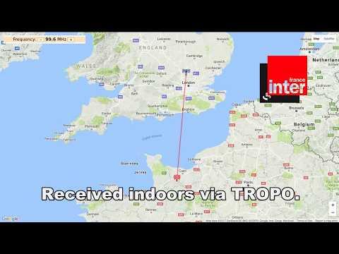 [Tropo] 99.6 Mhz France Inter from Caen-Mont Pinçon, 312 km distance