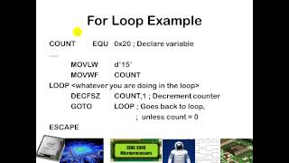 Writing Loops in PIC Assembly Programming