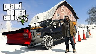 GTA 5 Real Life Mod #55 - DRIVING A SNOW PLOW TRUCK!! (GTA 5 Mods) thumbnail