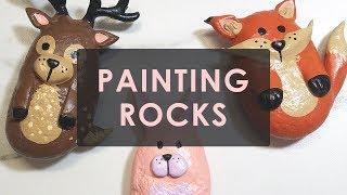 DIY PAINTED ROCK ART - WOODLAND CREATURES | ART DROP AROUND TOWN!