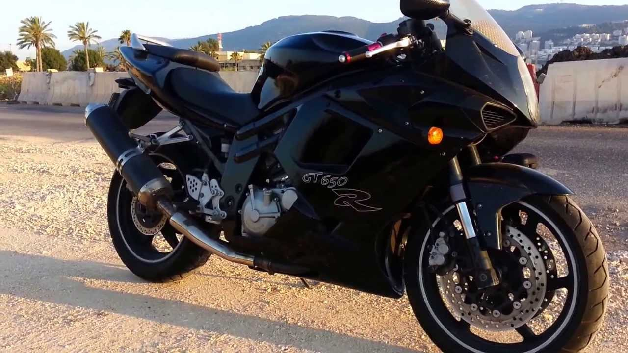 Hyosung GT650R Black 2007 Injection! - YouTube