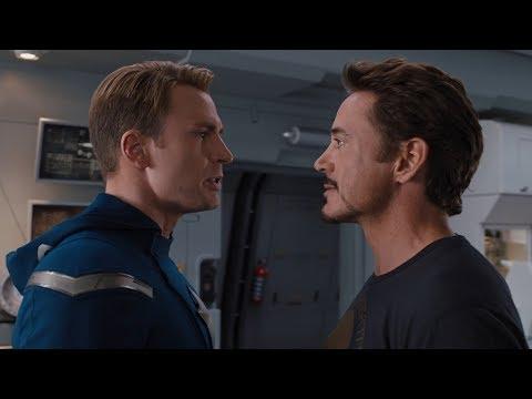 Спор Команды Мстителей. Тони против Стива   Мстители (2012)
