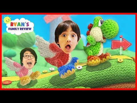 Thumbnail: Surprised Yoshi Eggs! Let's Play Yoshi's Wooly World with Ryan's Family Review