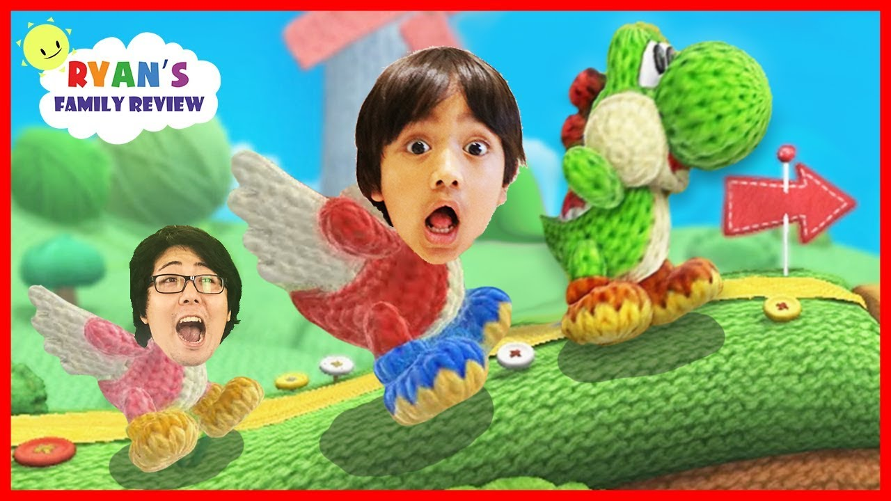 Surprised Yoshi Eggs! Let's Play Yoshi's Wooly World with Ryan's Family Review