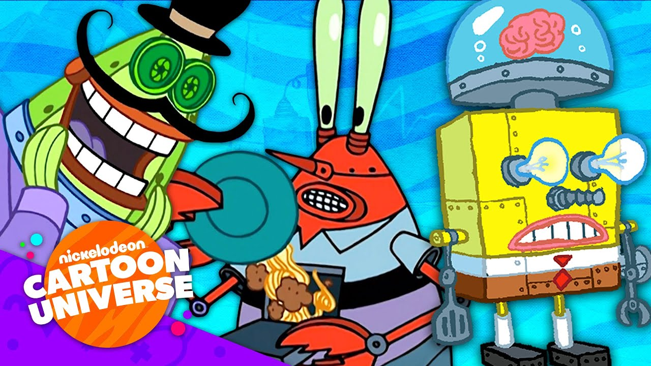 38 Robots in Bikini Bottom! 🤖   SpongeBob   Nickelodeon Cartoon Universe