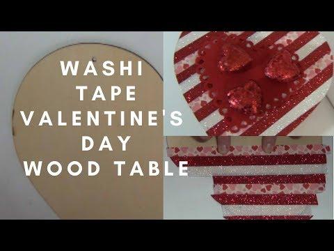 Washi Tape Valentine's Day Table Diy Using Dollar Tree Products/  Jenga
