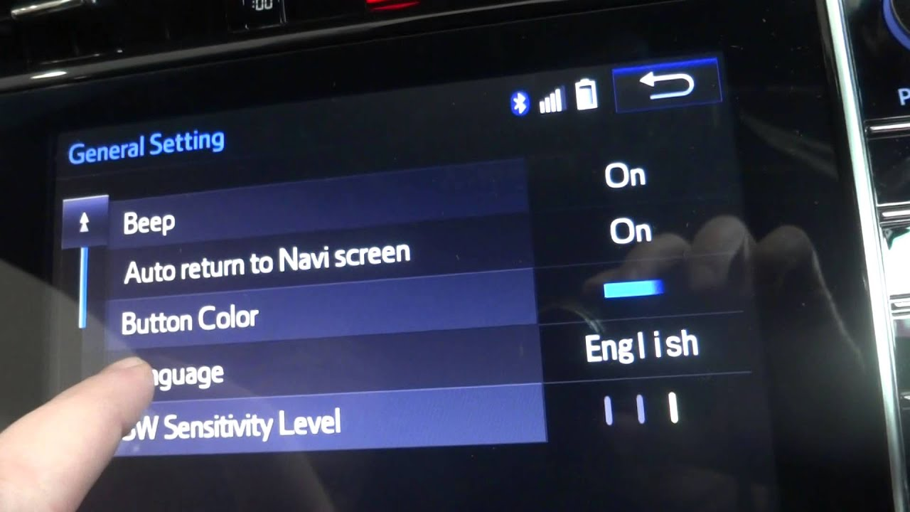2014 Toyota Harrier Changing Navigation To English Arm