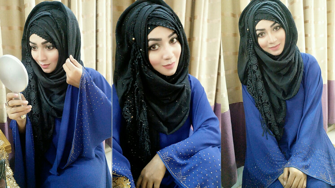 Hijab Style For Salwar Kamij Burkha Pari Zaad Youtube