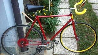 Restauro bici da corsa anni 70'. Scatto fisso fixed vintage