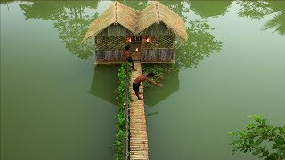 Bushmen Build The Most Beautiful Unique Villa House On Water By Ancient Skills