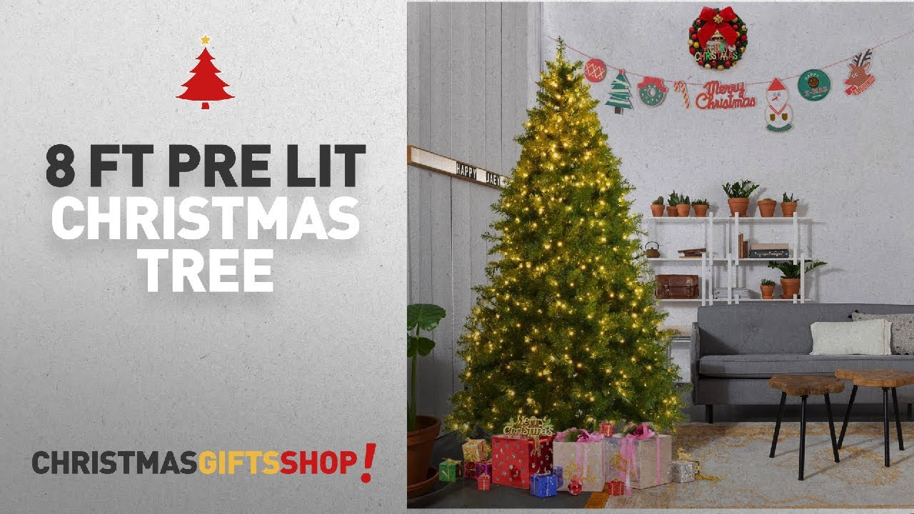 Most Popular 8 Ft Pre Lit Christmas Tree: Goplus Pre-Lit
