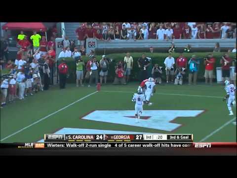09/07/2013  South Carolina vs Georgia Football Highlights