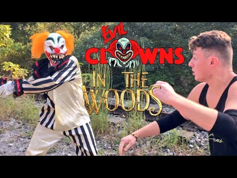 GRIM SHOOTS CLOWN! SKINNY KID VS CLOWN IN THE WOODS! CLOWN LEADER RETURNS WITH NEW CHALLENGE!