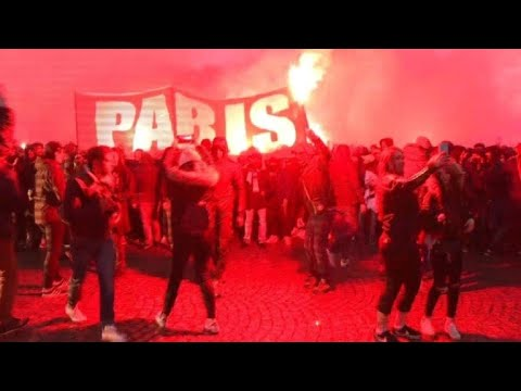 PSG-Real: Supporters gather outside Parc des Princes