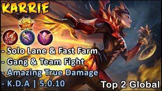 Best True Damage In Mlbb | Top Global Karrie Gameplay & Build - Mobile Legends