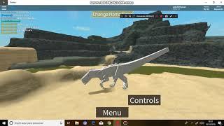 gameplay de indominus rex no Dinos World [roblox]