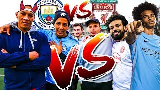 MANCHESTER CITY VS LIVERPOOL FUSSBALL CHALLENGE
