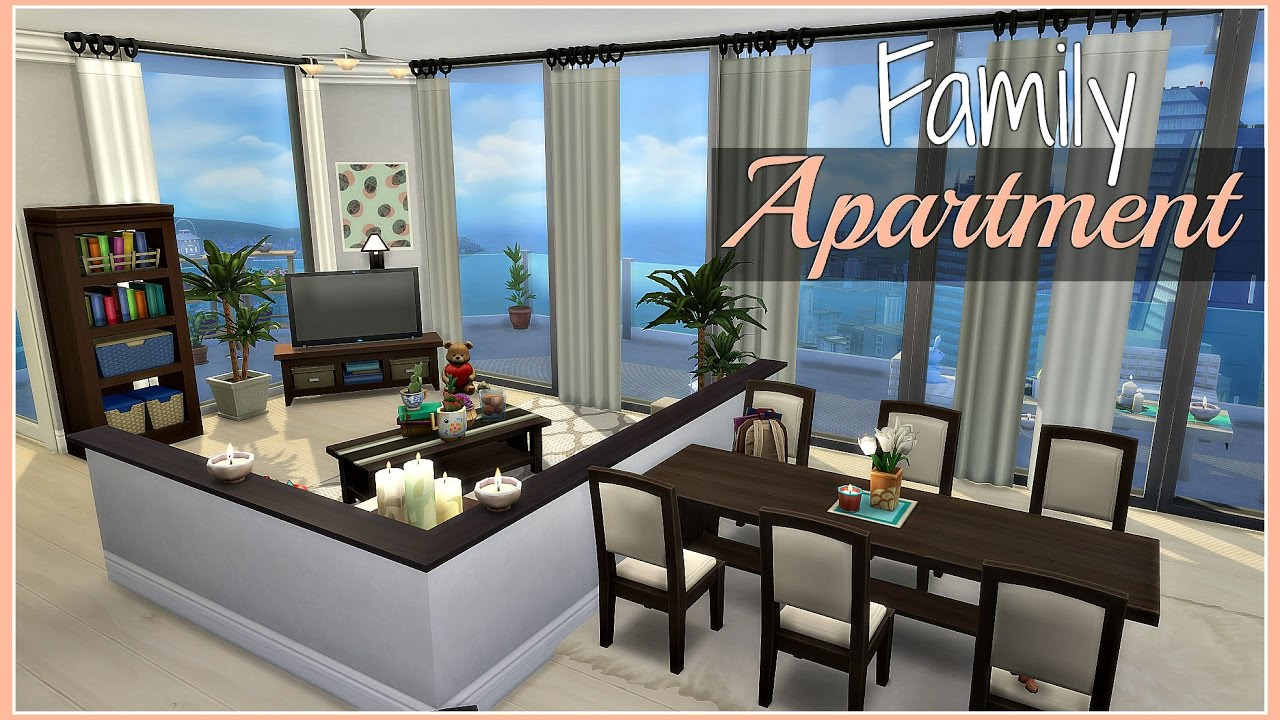 The Sims 4 Speed Build Family Apartment Youtube