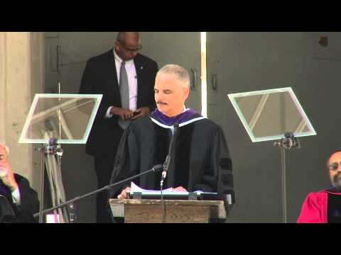 U.S. Attorney General Eric Holder speaks at Berkeley Law Commencement 2013