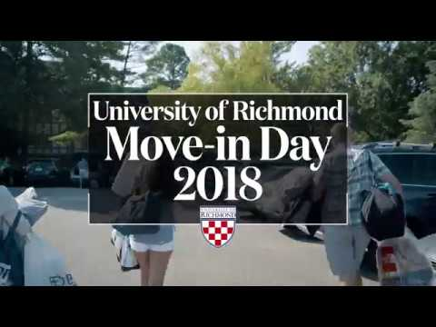 University of Richmond 'Move In Day 2018'