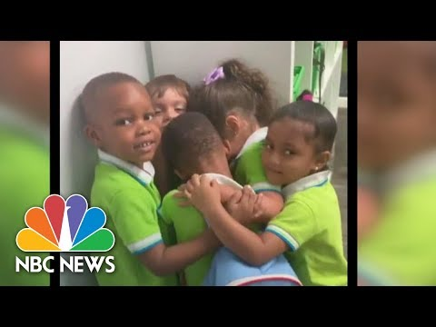 Students Give Boy Heartwarming Hug Upon Return From Enduring Dorian | NBC News