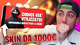 My hanno RUBATO the SKIN gives 1,000 euros!! Fortnite ITA!