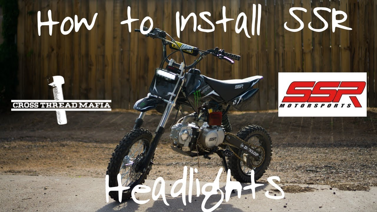 chinese pit bike wiring diagram how to install headlights on ssr 125 pit bike youtube  install headlights on ssr 125 pit bike