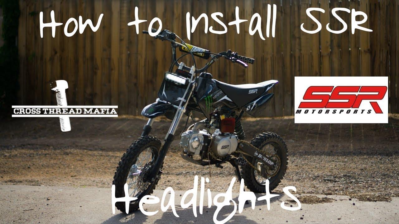 how to install headlights on ssr 125 pit bike [ 1280 x 720 Pixel ]