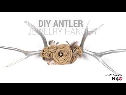 DIY ANTLER JEWELRY HANGER