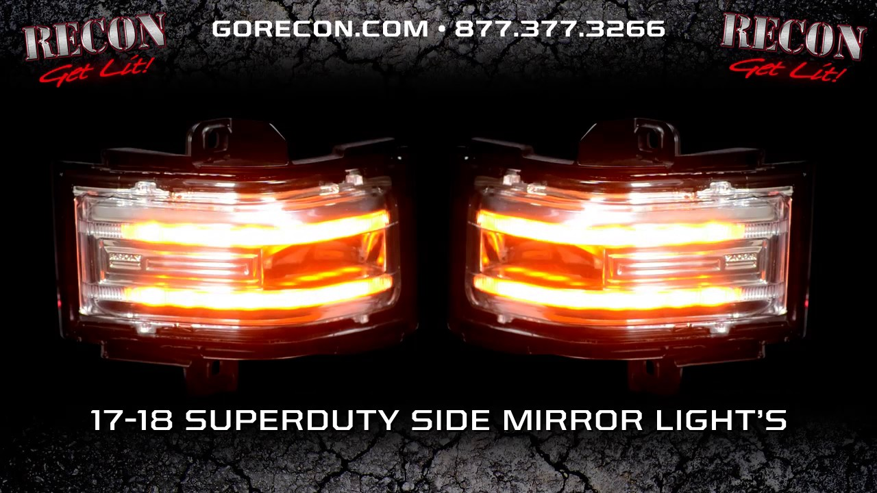Ford 17 18 F250 F350 F450 Superduty Side Mirror Lenses