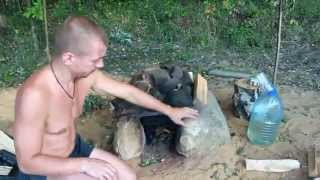 Походная баня и печка-каменка(Как в походе пользоваться временной баней (тентом), делать печку-каменку и советы по её использованию., 2015-05-07T08:36:50.000Z)