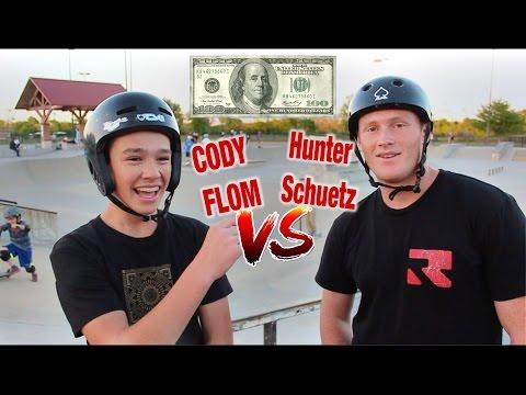 $100 GAME OF SCOOT | CODY FLOM vs HUNTER SCHUETZ