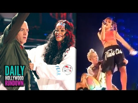 Lily Allen Twerks On Miley Cyrus & Rihanna and Eminem's 'The Monster' Tour Highlights (DHR)
