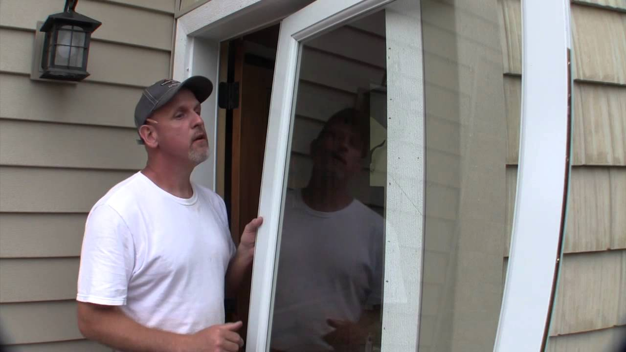 Install a Larson Storm Door - YouTube