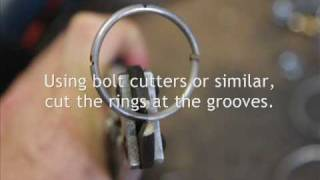 Rolling Ball sculpture - Making Track Spacers