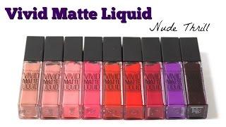 Lmaquillaje ♥ VIVID MATTE LIQUID - NUDE THRILL