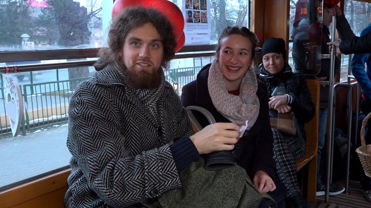 2018.02.14 Historyczna N-ka w roli walentynkowego tramwaju