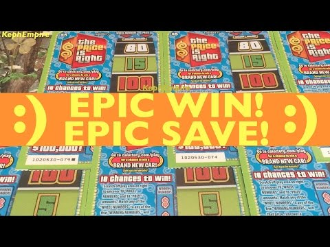 OMG SAVED BY $1 SCRATCHER WIN EPIC!!! Price Is Right California Lottery Scratchers - Keph G#4/R#6