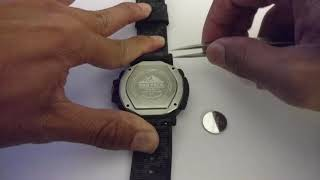 9e5225091ea How To Change Battery Casio Pro Trek PRG650YBE 3 - Time Lapse ...
