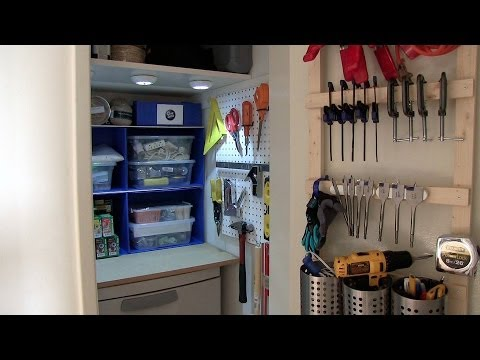 How to organize your closet for tools or crafting supplies - Season 2 - Ep 6