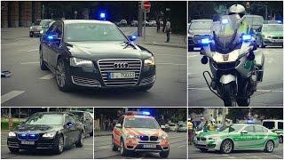 [Trauerakt anlässlich Amoklauf] VIP-Eskorten und Einsatzfahrten in München