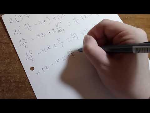 Алгебра 7 кл. - Решение линейного уравнения с дробями и мешаными числами