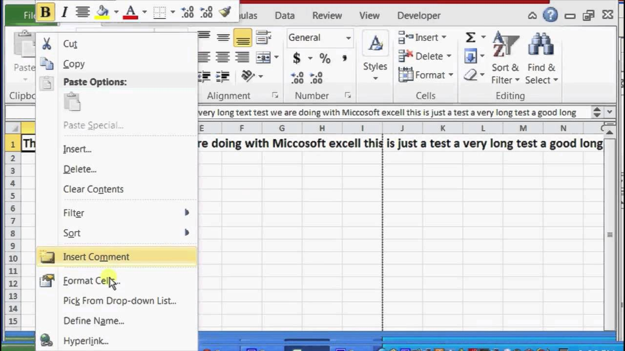 How to Fit Long Text in Excel : Microsoft Excel Help
