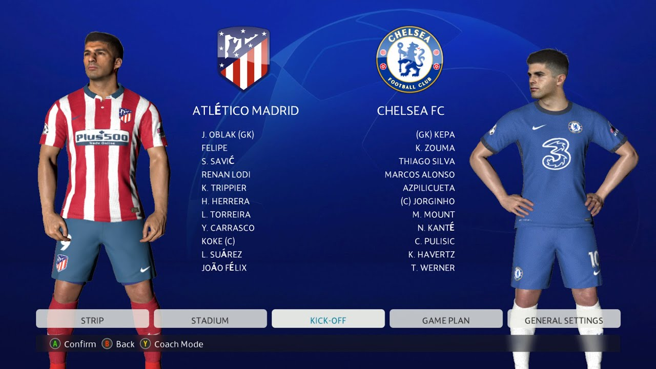 PES 2017   NEW SEASON UCL MOD 2021   ATLETICO MADRID VS CHELSEA FHD  GAMEPLAY 2021 - YouTube